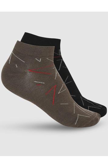 Spykar Black Cotton Pack of 2 Socks