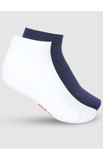 Spykar White Cotton Pack of 2 Socks