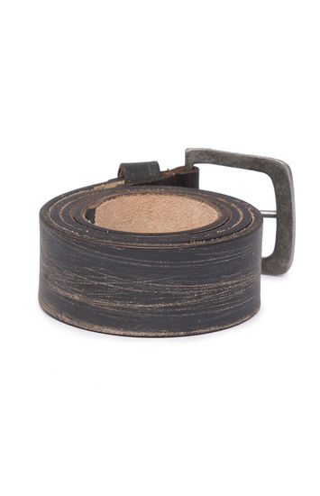 Spykar Charcoal Leather Belts