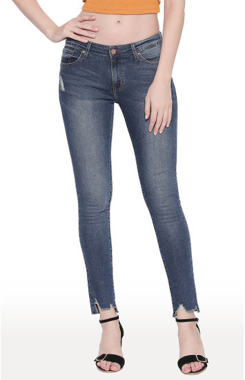 Dark Blue Solid Super Skinny Fit Jeans