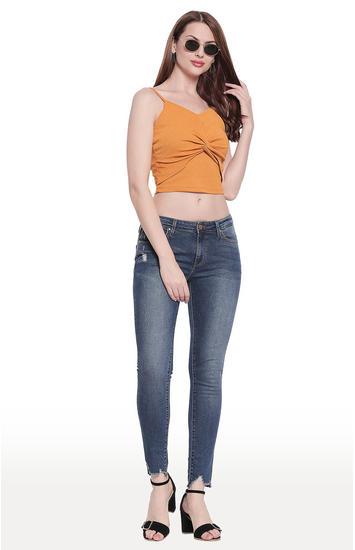 Dark Blue Solid Super Skinny Fit Jeans