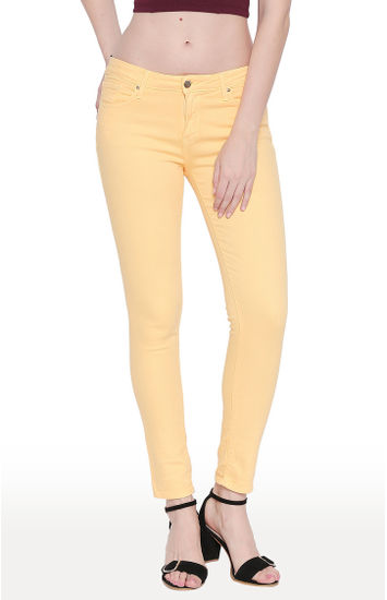 Mango Solid Super Skinny Ankle Length Fit Jeans