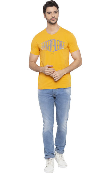 Yellow Printed T-Shirt