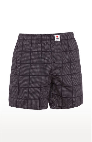 Black Checked Boxers