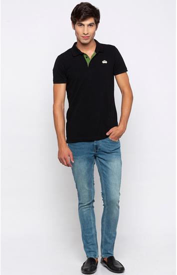Blue Solid Super Skinny Fit Jeans