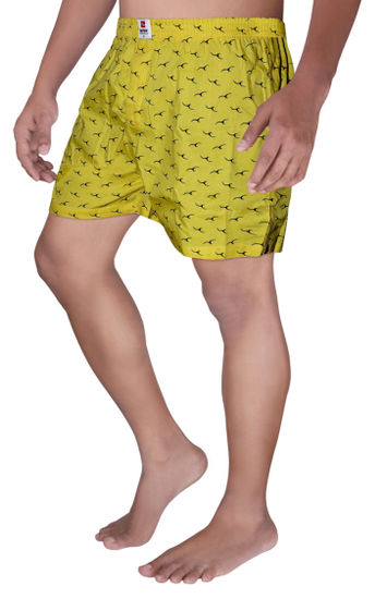 Yellow Printed Boxers
