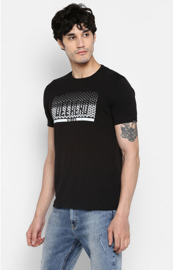 Jet Black Printed Shoe Liners T-Shirts