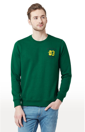 Green Solid Slim Fit T-Shirts
