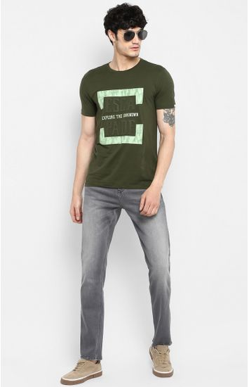 Grey Solid Shoe Liners Jeans