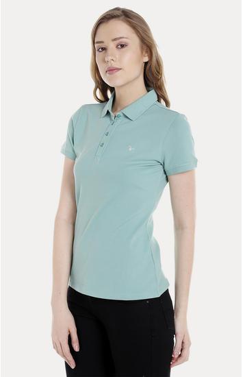 Green Solid Regular Fit T-Shirts
