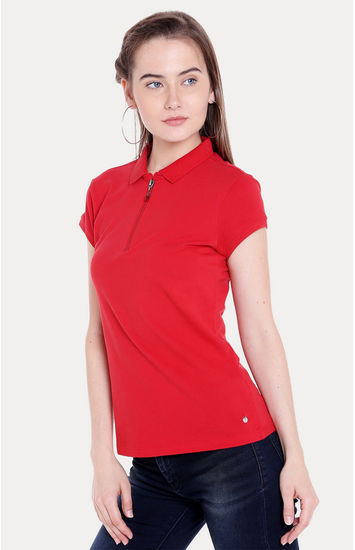 Red Solid Regular Fit T-Shirts