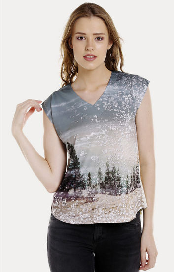 Multicolour Printed Regular Fit T-Shirts