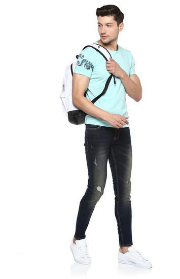 Aqua Solid Slim Fit T-Shirts
