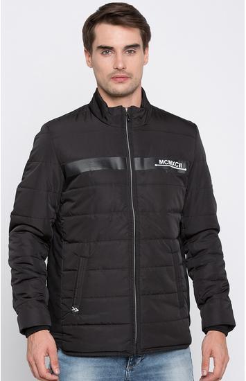 Black Solid Regular Fit Front Open Jackets