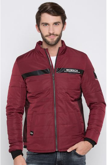 Maroon Solid Regular Fit Front Open Jackets