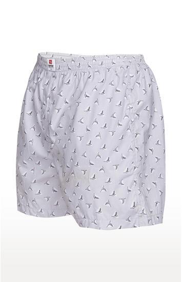Grey Printed Slim Fit Boxers