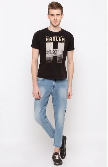 Light Blue Solid Slim Fit Jeans