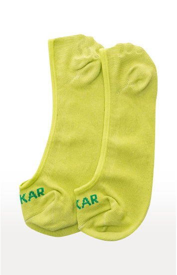 Grey and Green Solid Socks - Pack of 2