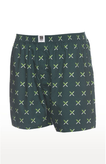 Olive Printed  Boxers