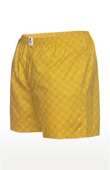 Ochre Printed Slim Fit Boxers