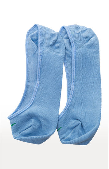 Sea Green and Sky Blue Solid Socks - Pack of 2