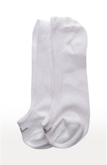 White & Dark Grey Solid Shoe Liners ped socks