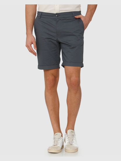 Dark Grey Chino Shorts
