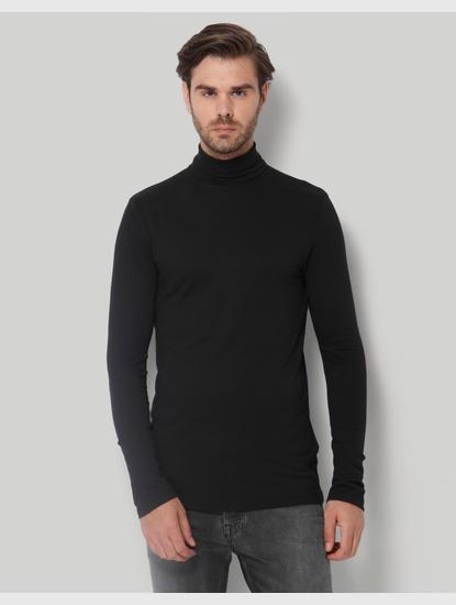 Black Turtle Neck T-Shirt