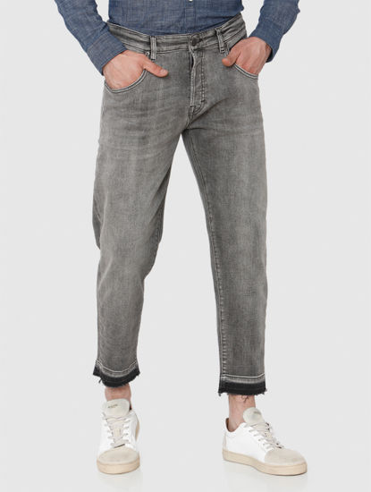 Grey Regular Fit Jeans