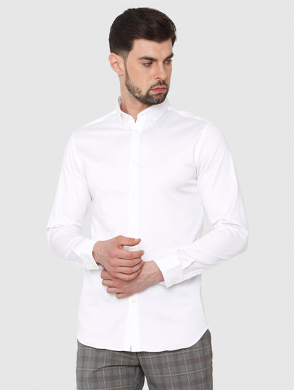 White Formal Full Sleeves Shirt