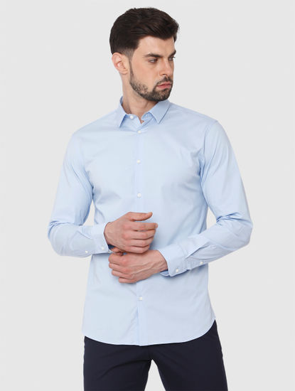 Light Blue Formal Full Sleeves Shirt