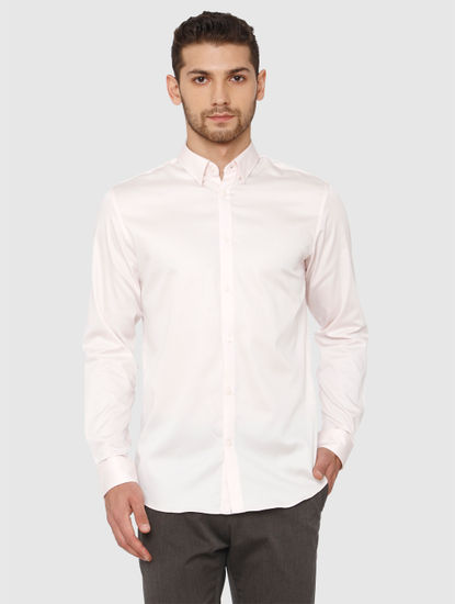 Light Pink Slim Fit Formal Shirt