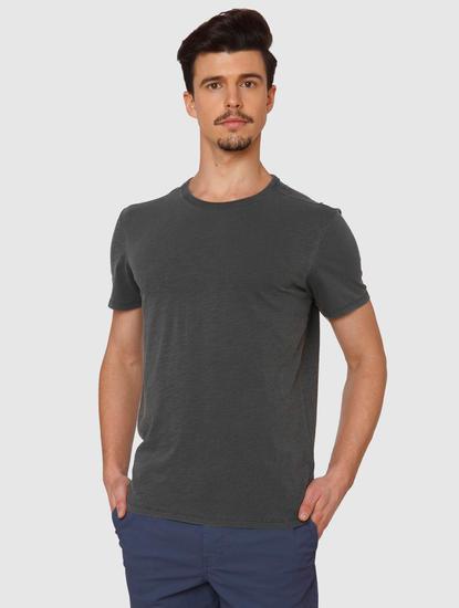 Grey Dyed Crew Neck T-Shirt