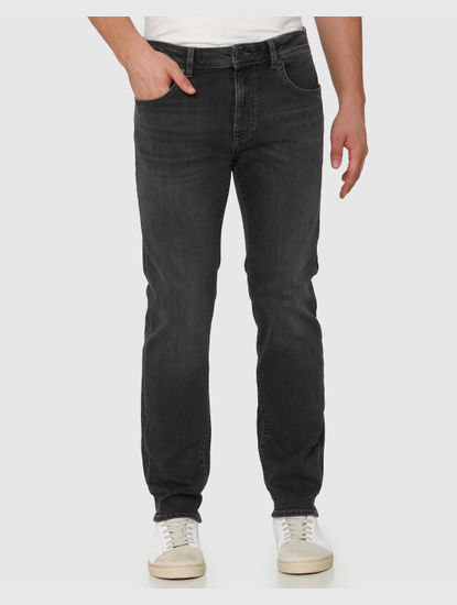 Grey Faded Leon Slim Fit Jeans