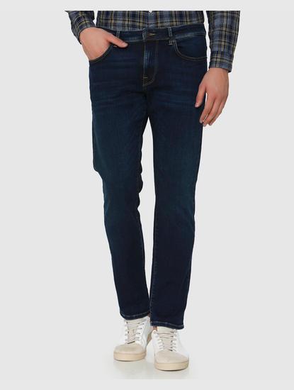 Dark Blue Scott Straight Fit Jeans