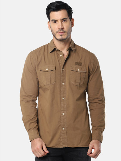 Dark Brown Full Sleeves Shirt