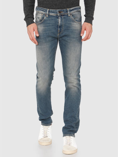 Light Blue Faded Leon Slim Fit Jeans
