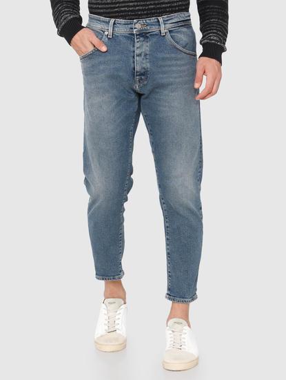 Light Blue Cropped Aldo Regular Fit Jeans