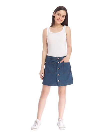 Women Casual Denim Skirt