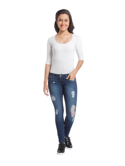 Distressed Casual Jeans