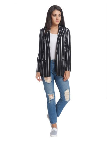 Casual Stripe Blazer