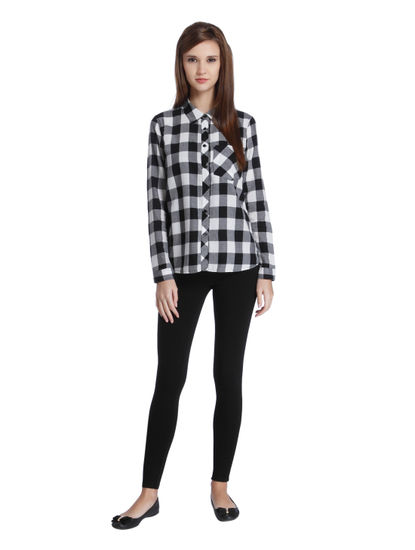 Black & White Buffalo Check Shirt