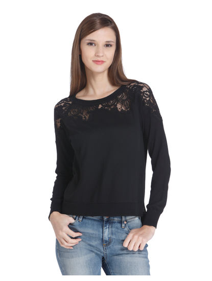 Black Lace Pullover