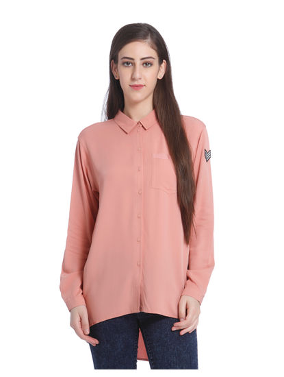 Dusty Pink High Low Shirt