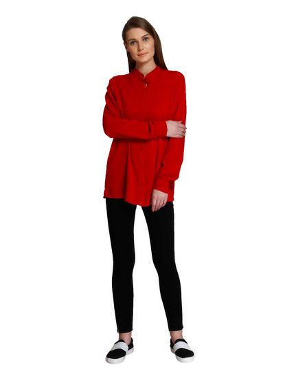 Bright Red Long Shirt