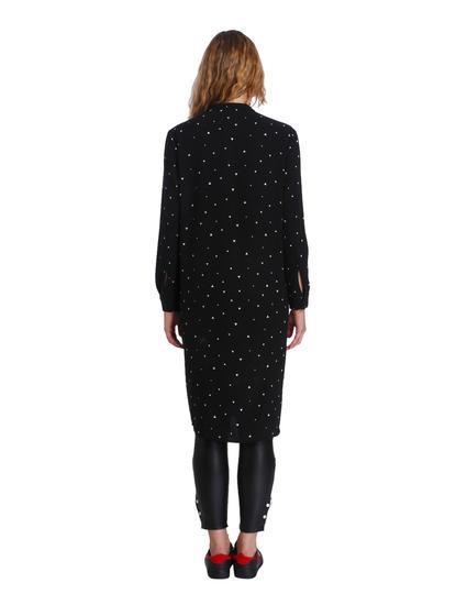 Black All Over Print Long Shirt