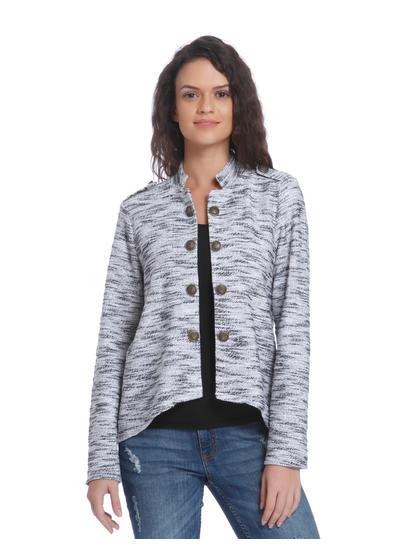 Black & White Textured Blazer