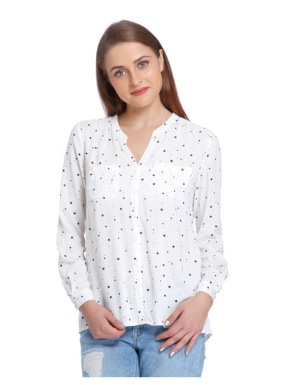 White Star Print Shirt