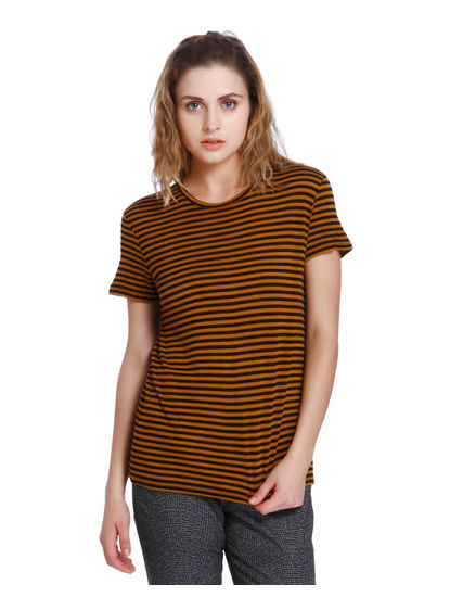 Brown Striped T-Shirt