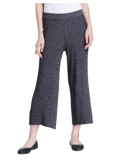 Black Knit Cropped Pants